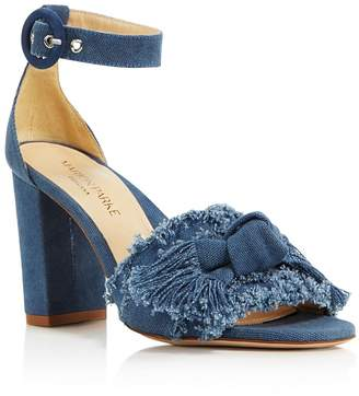 MARION PARKE Women's Larin Denim High-Heel Sandals