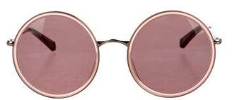 Kate Young for Tura Round Tinted Sunglasses