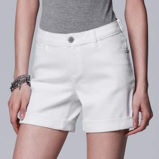 Vera Wang Women's Simply Vera Cuffed Jean Shorts