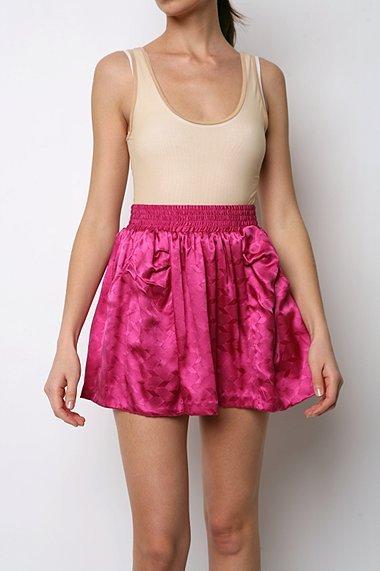 Silence & Noise Silk Jacquard Skirt