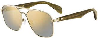 Rag & Bone Men's Metal Navigator Sunglasses
