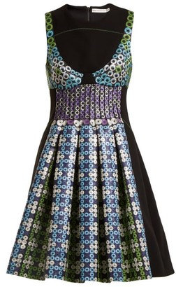 Mary Katrantzou Narcisse Circle Jacquard Dress - Womens - Blue Multi