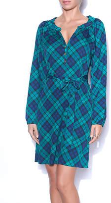 Mud Pie Emerald Plaid Dress