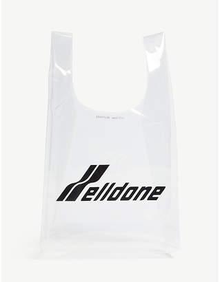 clear WE11 DONE We11 Done Logo-Print Tote Bag