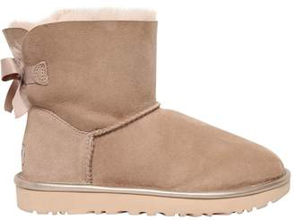 UGG Mini Bailey Bow Metallic Shearling Boots
