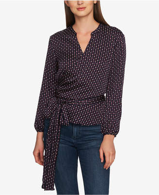 1 STATE 1.state Wrap-Front Daisy Blouse