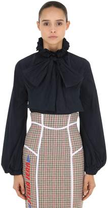 Stella Jean Tech Nylon Shirt With Bow