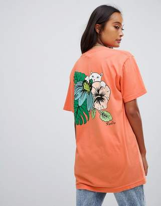 N. Rip Dip RIPNDIP relaxed t-shirt with tropical back graphic