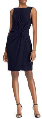Ralph Lauren Twist-Front Sheath Dress