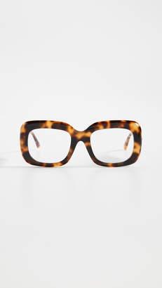 Linda Farrow Luxe Acetate Rectangle Glasses