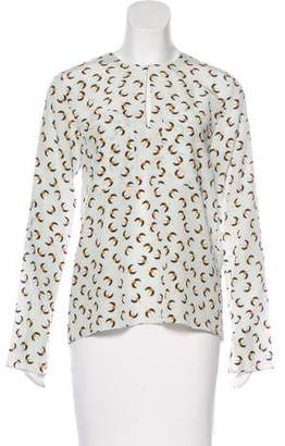 Dorothee Schumacher Silk Abstract Print Blouse w/ Tags