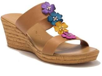 Italian Shoemakers Bailee Floral Wedge Platform Sandal