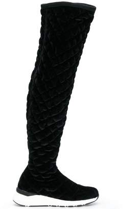 Casadei quilted knee-length boots