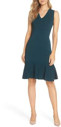 Vince Camuto Flounce Hem Sweater Dress