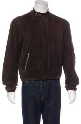 Giorgio Armani Suede Bomber Jacket