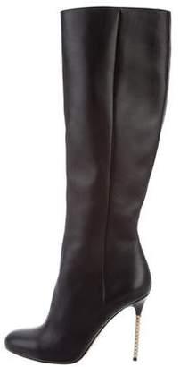 Valentino Rockstud Knee-High Boots