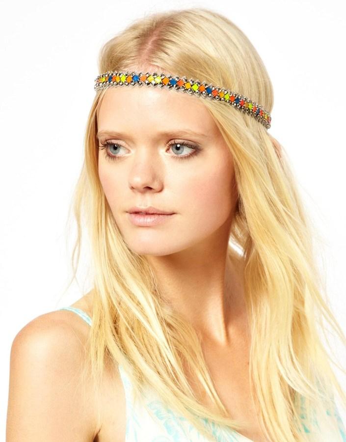 Deepa Gurnani Diamond Neon Headband