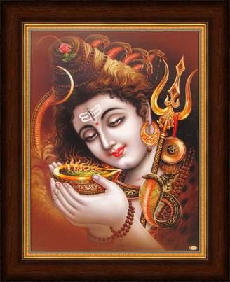 Camilla And Marc Avercart Lord Shiva / Shree Shankar / God Shiva / Mahadev Poster 21x28 cm with Photo Frame (8.5x11 inch framed)