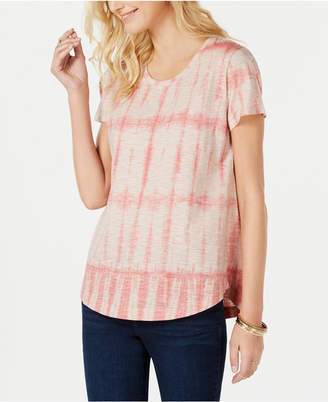 Style&Co. Style & Co Cotton Printed Scoop-Neck T-Shirt