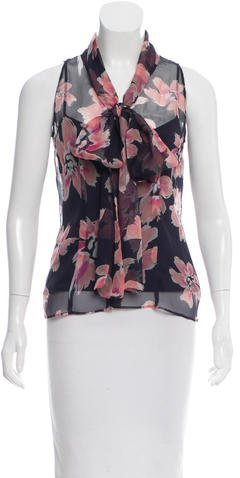 Christian Dior Silk Printed Top
