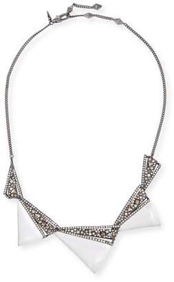 Alexis Bittar Crystal Origami Bib Necklace