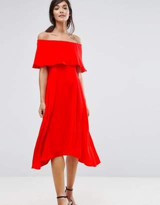 Coast Brooke Bandeau Frill Midi Dress