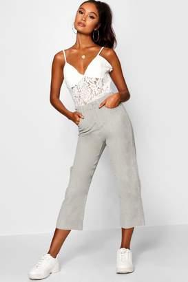 boohoo Summer Cord Crop Flare Jean