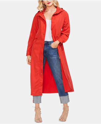 Vince Camuto Hooded Drawstring-Waist Maxi Coat