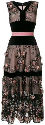 Talbot Runhof embroidered tulle dress