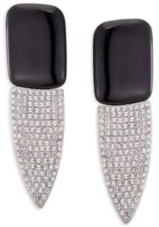 Saint Laurent Smoke Bo Clip-On Earrings