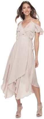 JLO by Jennifer Lopez Women's Cold-Shoulder Faux-Wrap Dress