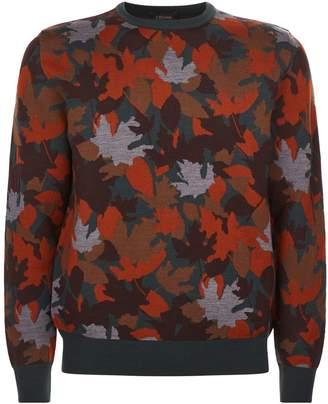 Ermenegildo Zegna Jacquard Leaf Sweater