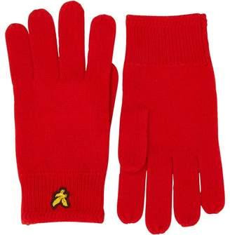 Lyle & Scott Vintage Mens Racked Rib Gloves Tomato Red