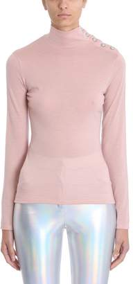 Balmain Buttoned High-collared Sweater
