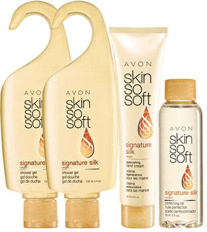 Avon SKIN SO SOFT Signature Silk 4-Piece Be Soft Collection