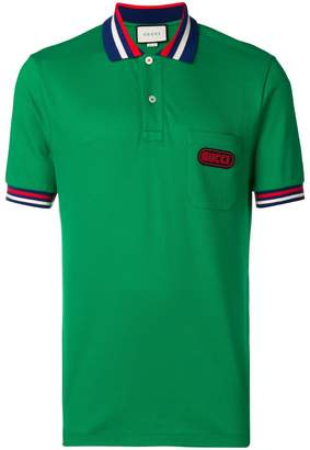 Gucci logo patch polo shirt