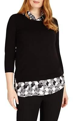 Studio 8 Sia Knit Top, Black/White