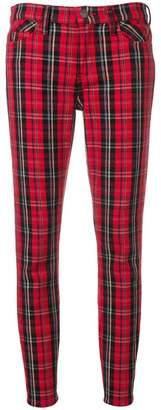 Current/Elliott tartan skinny trousers