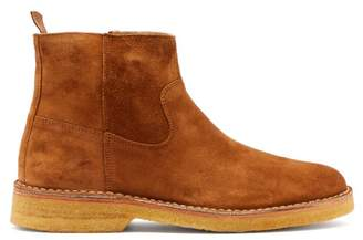A.P.C. Timothe Suede Chelsea Boots - Mens - Brown