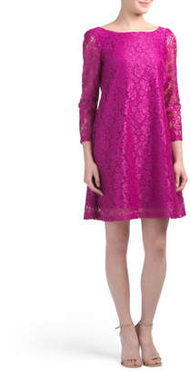 Three-quarter Sleeve Lace A-line Dress