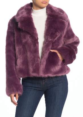 Sebby Faux Fur Notch Lapel Jacket