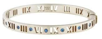 Tiffany & Co. Sapphire Narrow Pierced Hinged Bangle
