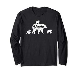 Vintage Uncle Bear with 3 Cub Father's Day Long Sleeve T-Shirt
