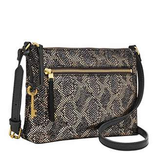 Fossil Printed Synthetic Leather; Zipper Closure Imported