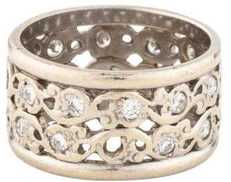 Ring 14K Diamond Scroll Band