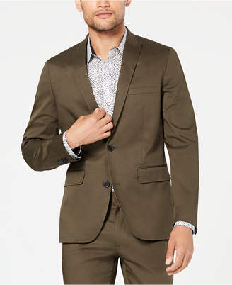 INC International Concepts I.n.c. Men's Ultra-Slim Fit Stretch Twill Suit Jacket, Created for Macy's