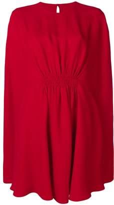 Valentino ruched waist split sleeve dress