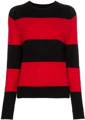 RE/DONE Striped Long Sleeve Crew Neck Jumper