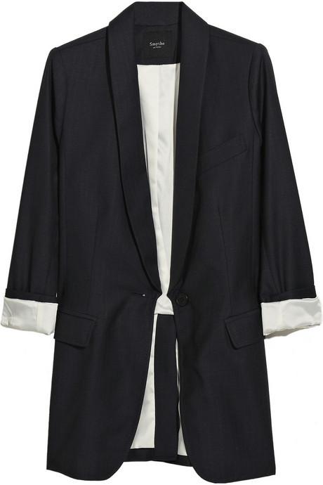 Smythe Wool boyfriend-fit blazer