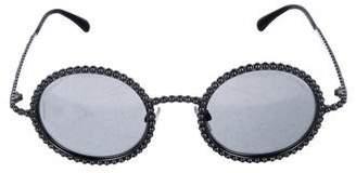 Chanel 2016 Pearl Round Sunglasses